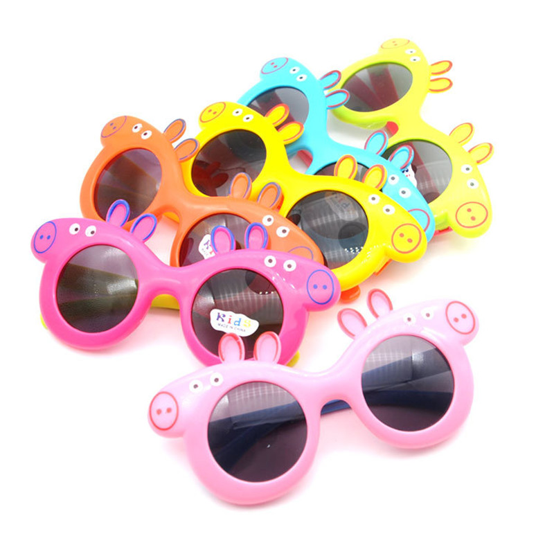 Peppa Pig George Friend Family Sunglasses Toys Children's Anti-UV Sunglasses Cartoon Sunglasses 3-8 Year Old Gift Toy
