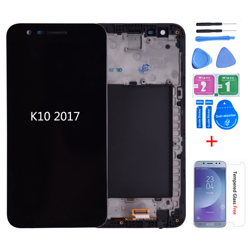 Original For LG K10 2017 M250N X400 LCD Display With Touch Screen Digitizer With Frame M250 M250DS LCD For LG K10 2017 K20 Plus