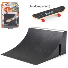 Fingerboard Rail Park Stair Kit Stairs Mini Skateboards for Kids Skateboard Game A2UB