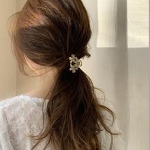 Модные коготь для волос крабы для женщин цветок коготь зажимы металлический Краб для волос конский хвост ловли зажимы диск волос стиль шинь...