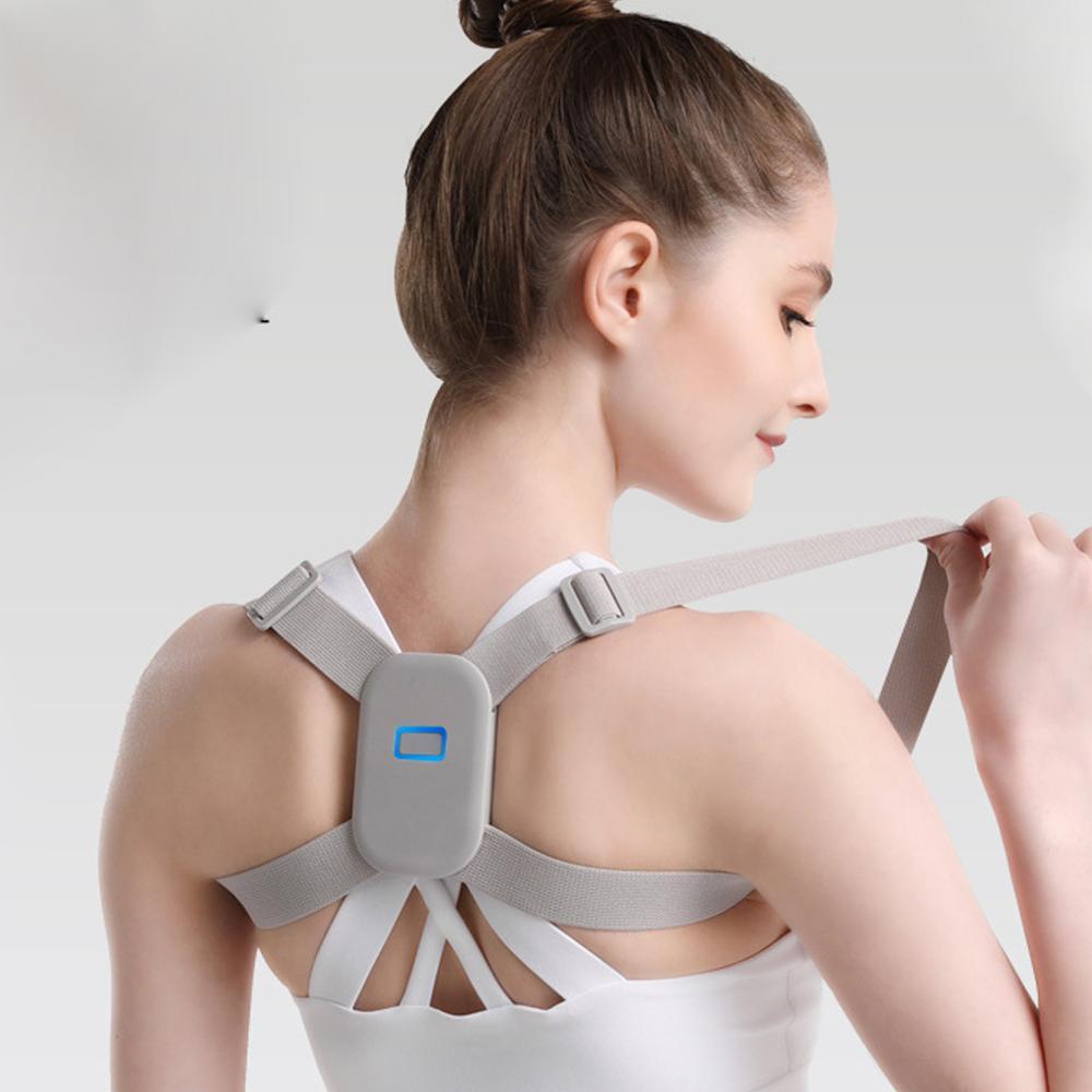 2020 Adjustable Intelligent Posture Trainer Smart Posture Corrector Upper Back Brace Clavicle Support for Men and Women Dropship