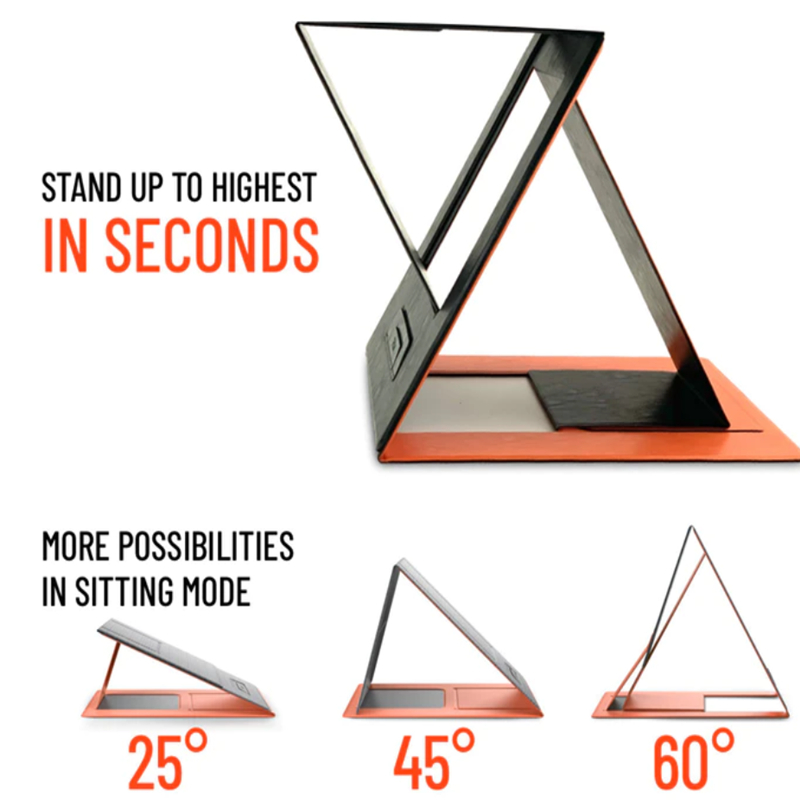 MOFT Lightweight Portable Laptop Stand Ultra-thin Folding Bracket Multi-angle Adjustment Carbon Fiber Computer Stand Relieve