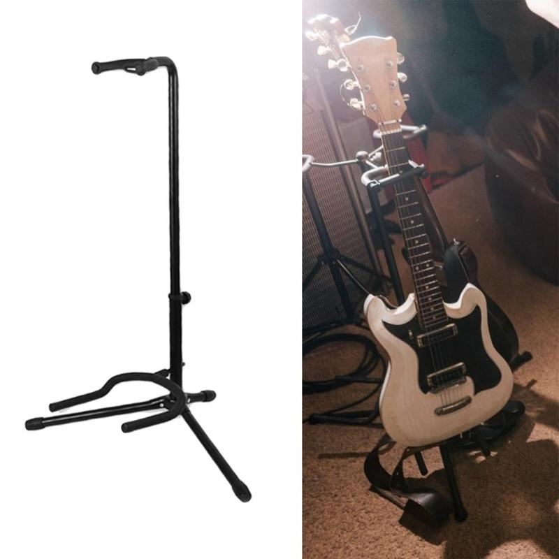 Hot Sale Guitar Stand Delicate Design Folk Guitar Holder Portable Lute Bass Rack Musical Instrument Display Stand