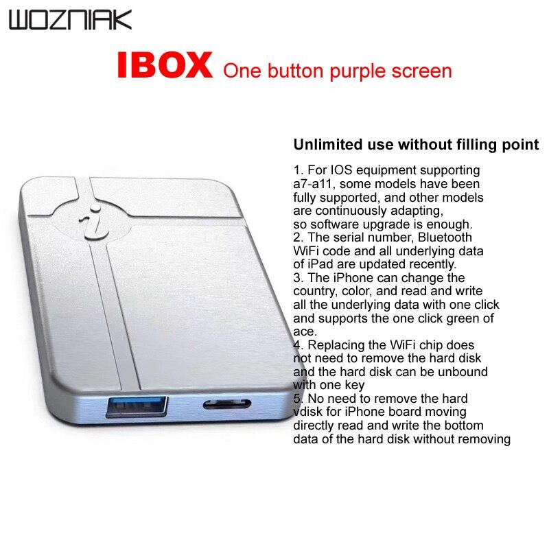 IBox لا تفكيك المطلوبة HDD القراءة الكتابة تغيير الرقم التسلسلي آيفون A7 A8 A9 A10 A11 باد برمجة IP صندوق 3