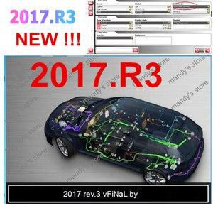 Image 2 - 2021 vd tcs Obd Obd2 ماسحة ل Delphis vd 2017 R3 بلوتوث للشاحنات السيارات التشخيص أداة + 8 قطعة كابلات السيارات