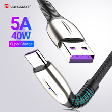 Langsdom 5A USB Type C Cable 40W Fast Charge USB C data Cable For Huawei Mate 30 20 P30 P20 P10 Pro Type-C Cable Wire Cord linkpin 5a usb type c cable for huawei mate 30 20 p30 p20 p10 pro lite 40w fast charging charger usb c type c cable wire cord