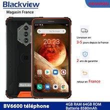Blackview – Smartphone BV6600, téléphone portable étanche IP68, 8580mAh, 4G, robuste, Octa Core, 4 go + 64 go, 5G, WIFI, NFC, Android 10