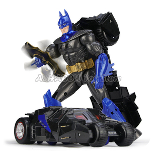 Image 5 - 25cm Deformation Robot Car Action Figures Transformation Spider man Captain America Batman Avengers Toys for Children Boys Gifts