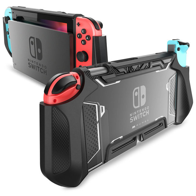 For Nintendo Switch Case MUMBA Series Blade TPU Grip Protective Cover Dockable Case Compatible with Console & Joy Con Controller