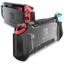 Pour Nintendo Switch Case série MUMBA lame poignée en TPU housse de protection étui Dockable Compatible avec Console et contrôleur Joy Con