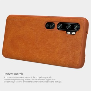 Image 5 - For Xiaomi Mi Note 10 Pro CC9 Pro Flip Case Nillkin Qin Vintage Leather Flip Cover Card Pocket Wallet Case For Xiaomi Mi Note10