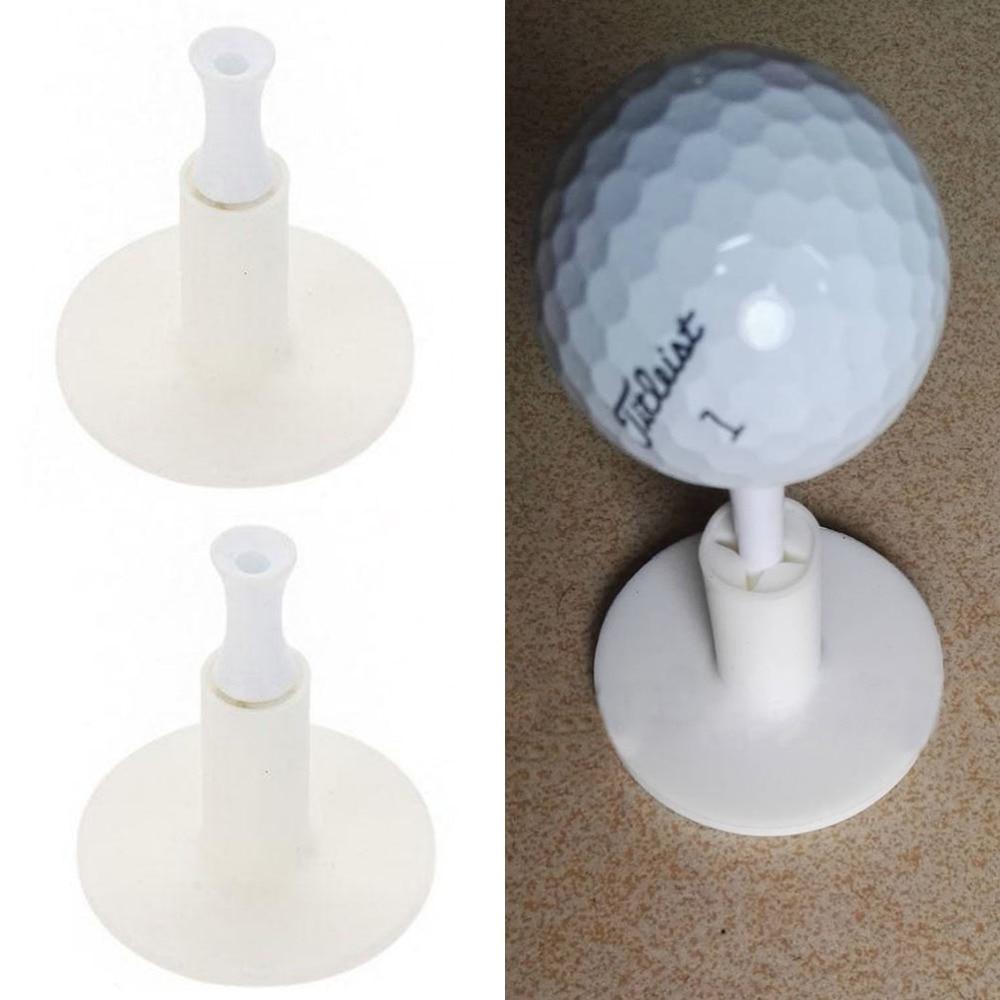 5pcs Durable White Mat Golf Tees Holder For Golf Driving Range Tee Practice Tool White