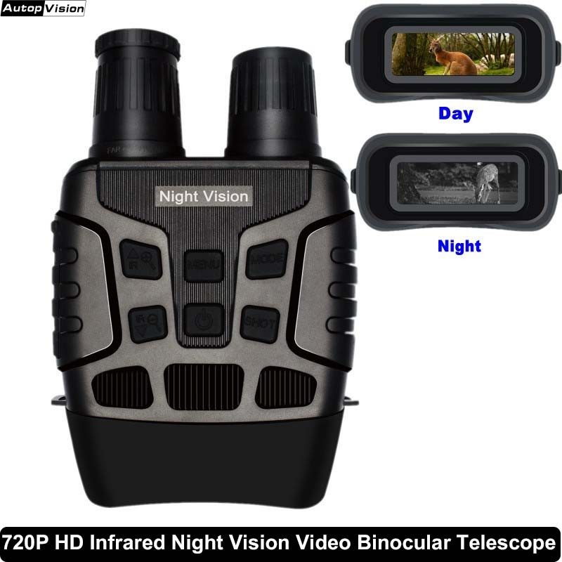 NV3180 New 720P infrared night vision camera can take pictures video night vision HD full black night vision Binocular telescope|Surveillance Cameras| |  - title=