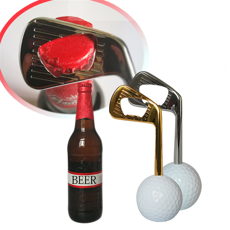 Golf Ball Bottle Opener Creative Zinc Alloy Beer Cap Puller Openers Golf Training Aids Golf Tool