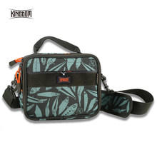 KINGDOM High Quality Fishing Bag Waterproof Nylon Outdoor reel Bags Multifunctional Fishing Lure box Fishing Tackle Storage Bags(China)