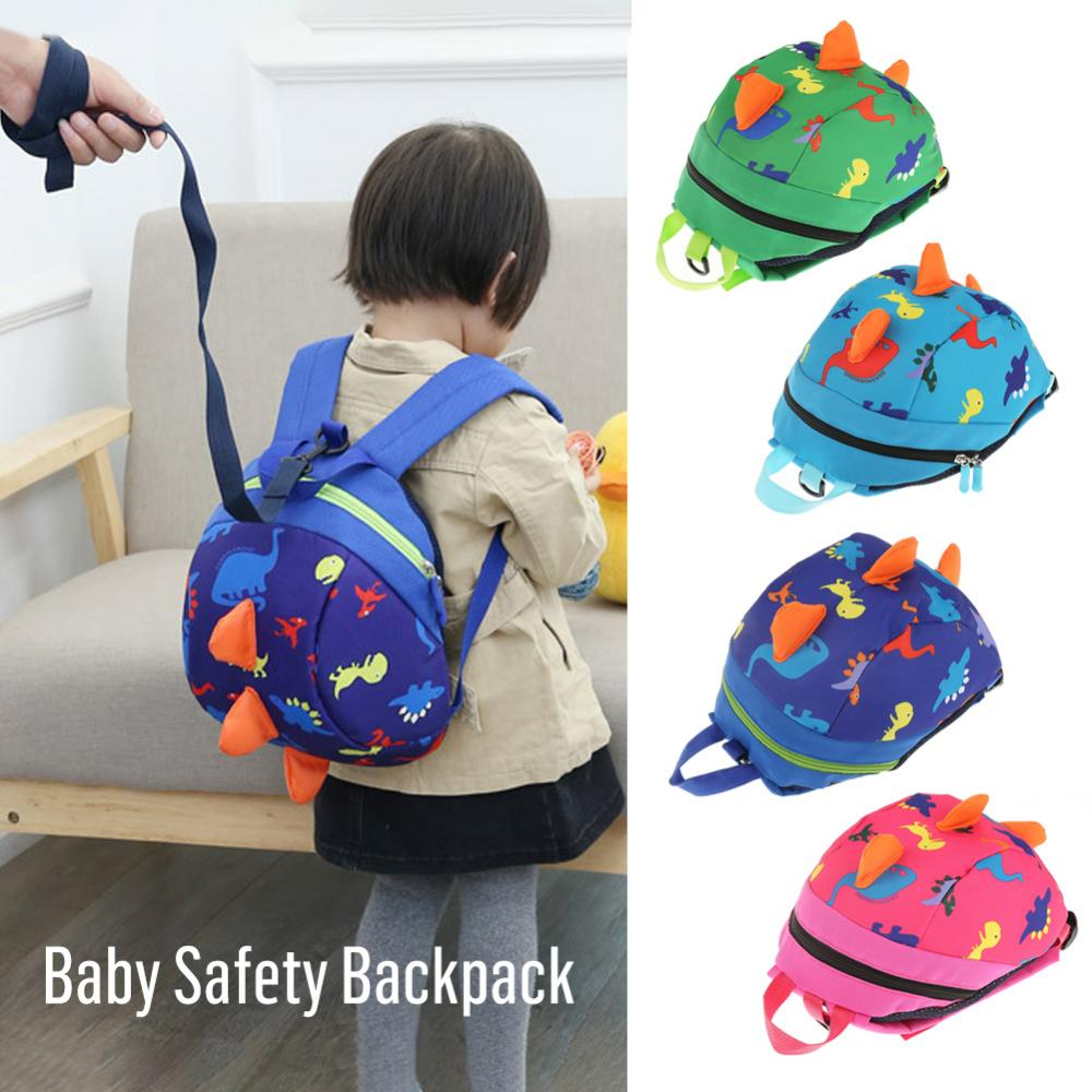 Baby Safety Harness Backpack Toddler Anti-lost Bag Cute Dinosaur Comfortable Schoolbag For Children Toddler Anti Lost Wrist Link