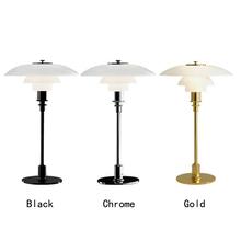 Nordic lampy stołowe szklana lampa stołowa luksusowe wyposażenie domu stół do pokoju dziennego światła lampy do sypialni nowoczesne białe Bookcases lampka na biurko tanie tanio XunShiNi CN (pochodzenie) Łóżko pokój Srebrny Dół 623133 Szkło iron Ue wtyczka 90-260 v Pokrętło przełącznika