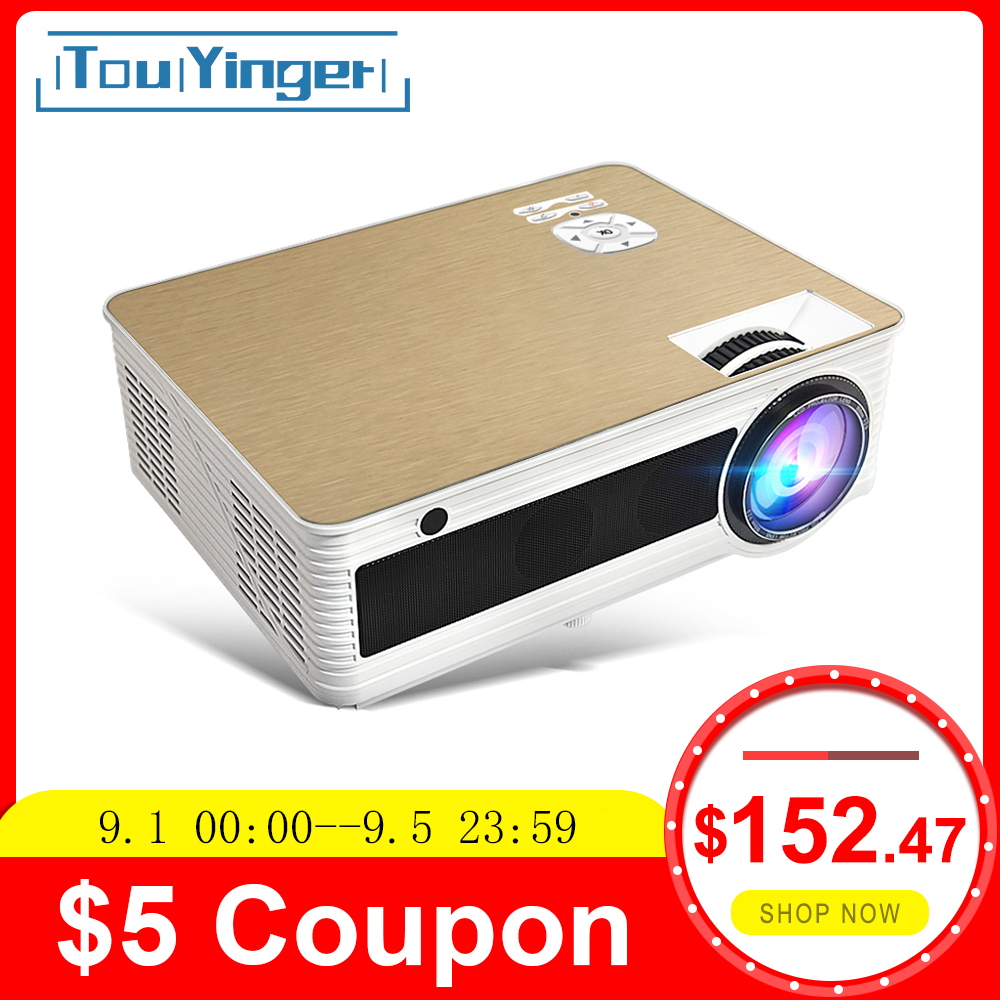 Touyinger M5 Projector Beamer Video Android Home Cinema 4000 Lumen Full-Hd Bluetooth