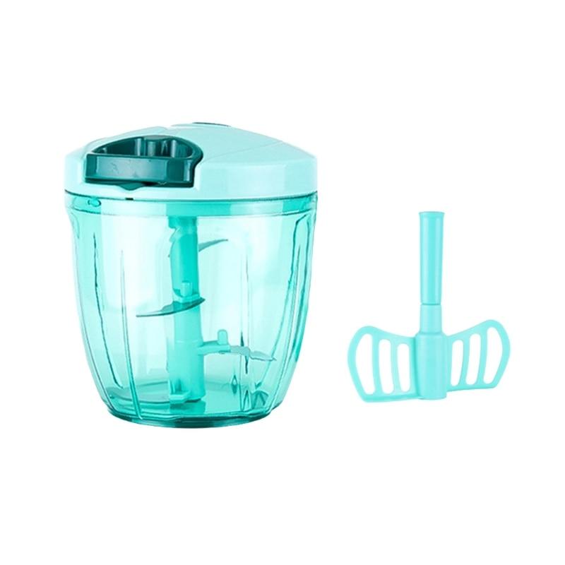 Manual Food Processor Chopper Blender Slicer Safe Free Durable Kitchen Household title=