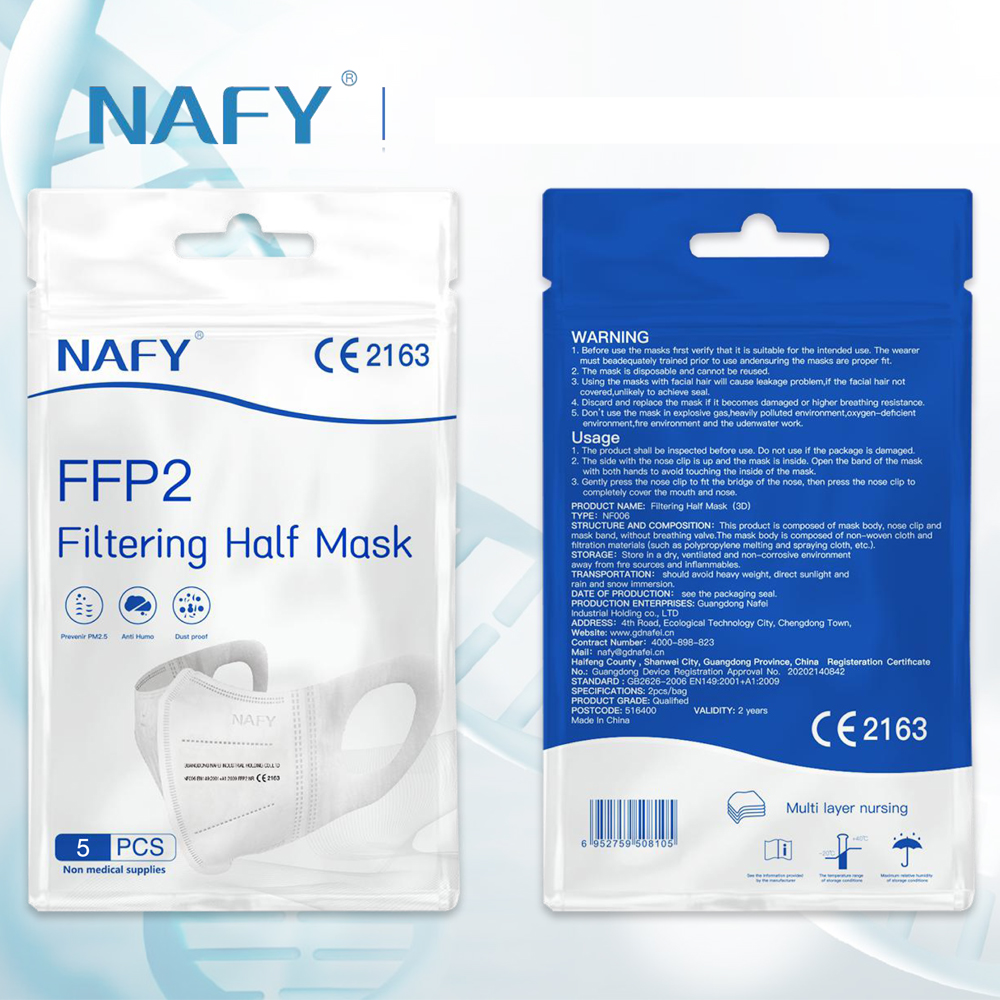 New NAFY CE2163 FFP2mask Filter Face FFP2 Masks Anti-Pollution Non-disposable Protective Masks Dust Filter Safety Mask
