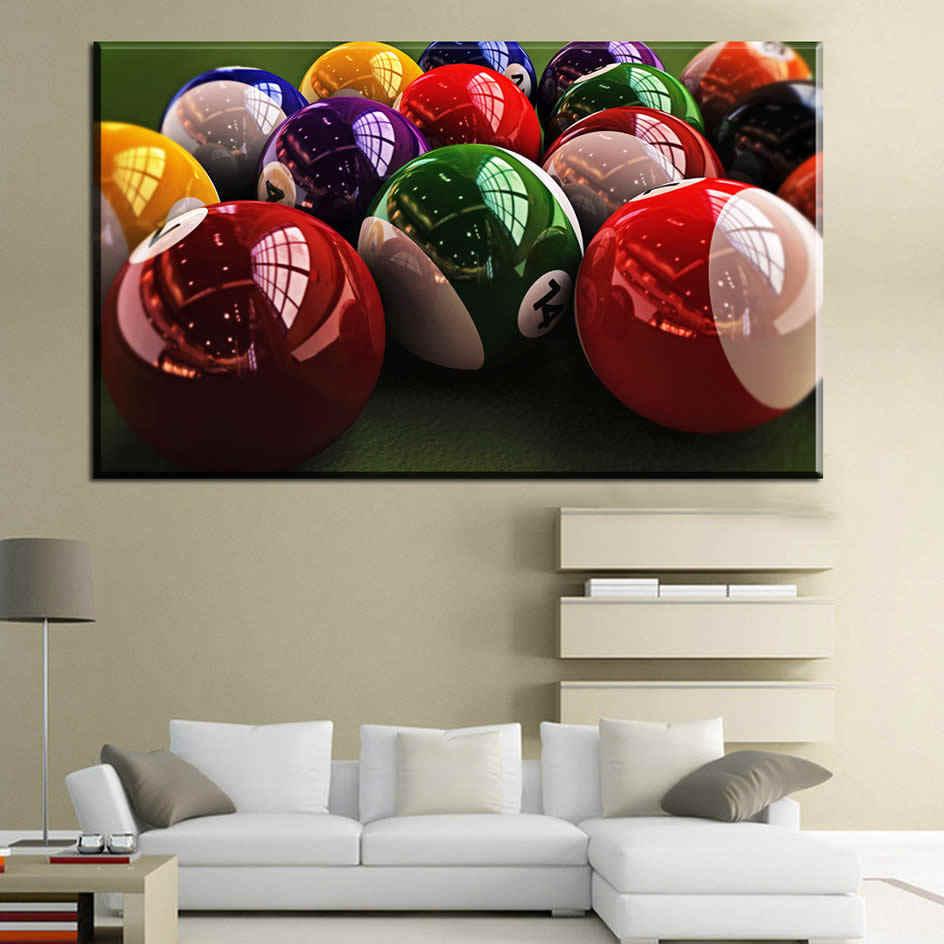 Besar Modern Fashion American Billiard Snooker HD Fotografi Seni Kanvas Lukisan Poster Dinding Gambar Ruang Tamu Rumah De