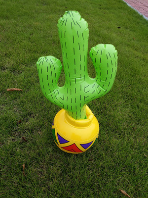 Inflatable Toy Small Cactus Stage Bar Seaside Activity Props Ornament Simulation Props Model Cactus