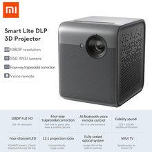 XIAOMI Fengmi inteligente Lite DLP 3D proyector 550 lúmenes Ansi 1080P Full HD 4K Android 2GB 16GB MIUI TV LED Beamer casa WIFI teatro