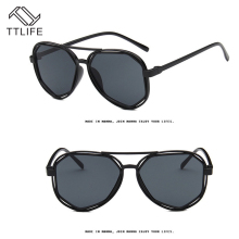 TTLIFE 2019 New Fashion Big Frame Sunglasses Men Square Glasses for Women High Quality Retro Sun FZHH0422