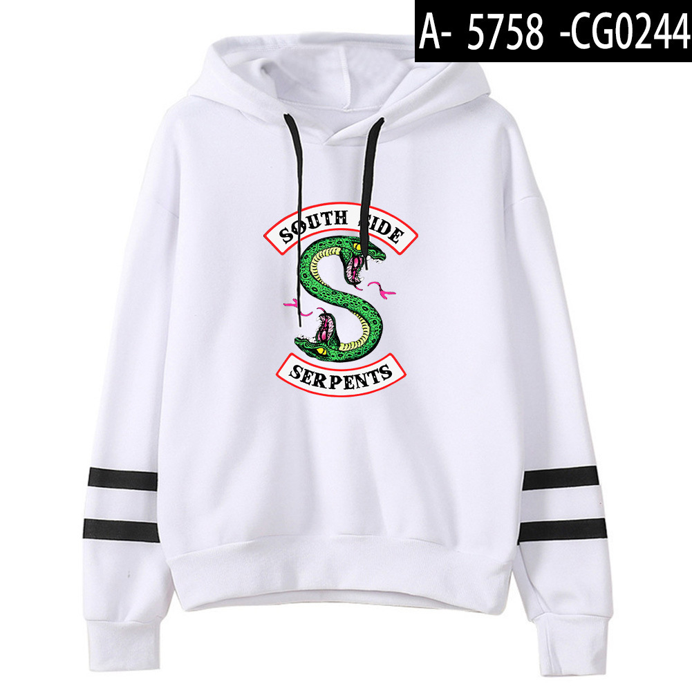 Riverdale Southside Serpents Hoodies Sweatshirts MenS Women South Side Serpents Hoodie Long Sleeve Striped Pullover Top Oversize 13