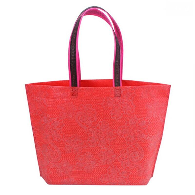 Women Lady Foldable Shopping Bag Waterproof Thick Handbag Casual New Portable Large Capacity Zip Nylon Tote