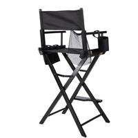 Portable Wooden Makeup Chair With Side Bags Folding Artist Director Chair Professional Beauty Tool Make Up Accessories