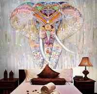 beibehang Custom wallpaper photo Southeast Asian yoga studio background wall murals rain elephant home decoration 3d wallpaper