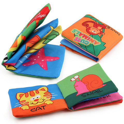 Baby Educational Cloth Books Toy Newborn Training Toys Cute Infant Intelligence Development Soft Books Quiet Cloth  Book For Bab Karachi