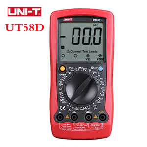 UNI-T Multimeter Digital Professional Lcr Meter UT58D AC/DC Volt Amp Ohm Capacitance Inductance ESR Tester Unit multi-Meter