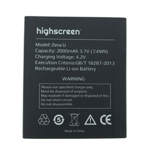 NEW Original 2000mAh zera u  battery for highscreen High Quality Battery+Tracking Number