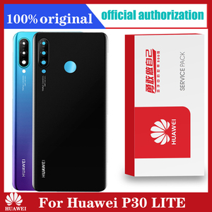 Image 1 - Original Back Housing Replacement for HUAWEI P30 Lite Back Cover Battery Glass Huawei Nova 4e with Camera Lens adhesive Sticker