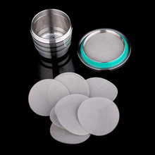 16PCS Filter Mesh Compatible With Nespresso Food Grade Metal Diameter 27MM Stainless Steel Refillable Capsules DIY Coffee Maker(China)