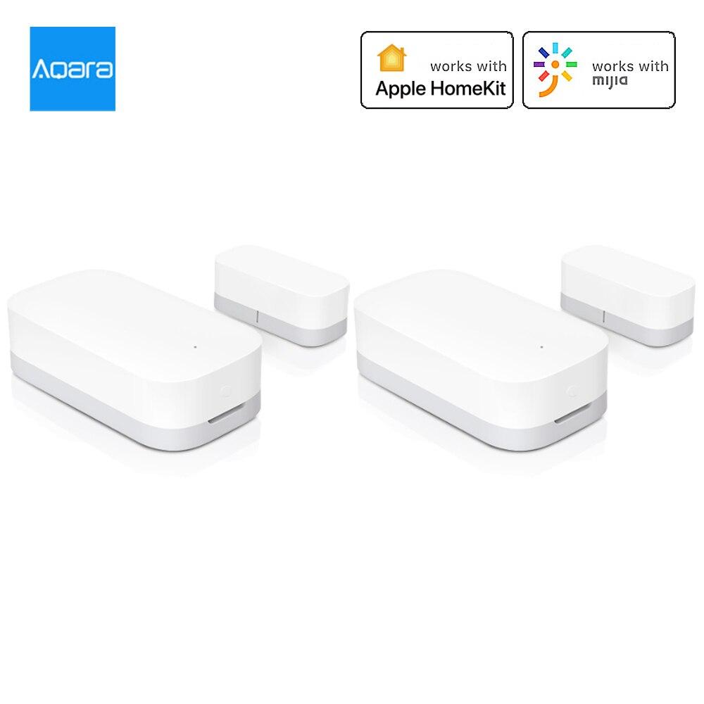 2Pcs Aqara Tür Fenster Sensor Zigbee Drahtlose Verbindung Smart Mini Tür Sensor Arbeit Mit Mi Hause APP Für Android IOS Smart Home