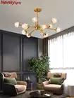 Goud Eenvoudige Led Kroonluchter Woonkamer Wit Neutraal Cool Led Opknoping Lamp Moderne Keuken Armatuur Verlichting Eetkamer Armatuur