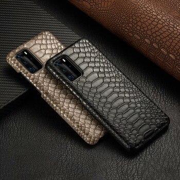 Funda de piel de serpiente para Huawei P40 Pro P30 P20 Mate 30 20 Pro para Huawei P30 40Pro