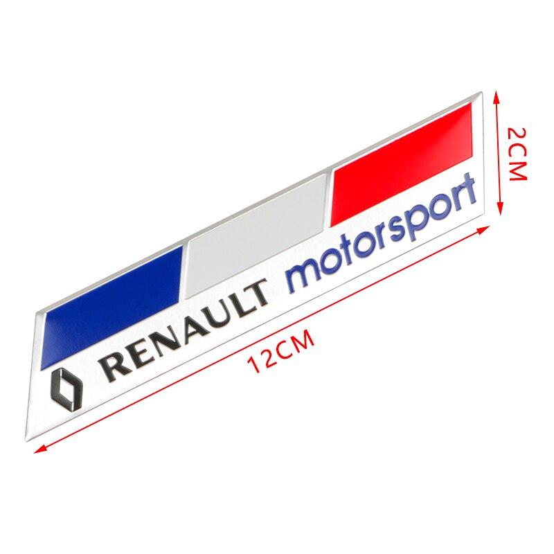 Rouge Chrome 3D Métal Sport Badge Autocollant Pour Renault Grand Scenic Megane