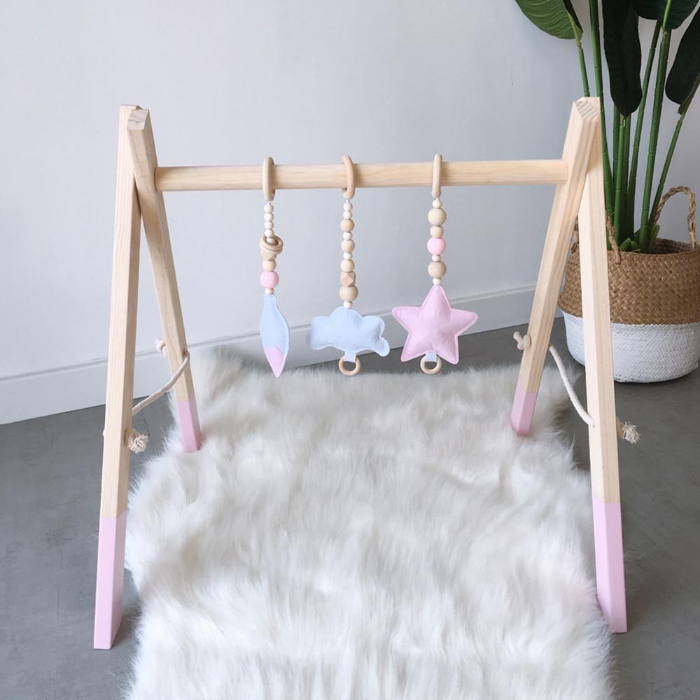 green scandi style fabric//white muslin teething ring Handmade baby comforter