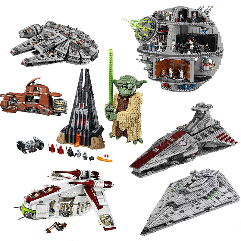 IN Stock Compatible Lepining Star Wars 8039 Series 7662 05069 Trade Federation MTT Building Blocks Bricks Toys 75251 75255
