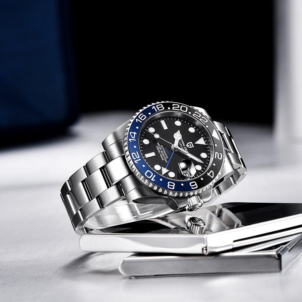 PAGANI DESIGN 2020 Luxury Men Mechanical Wristwatch Stainless Steel GMT Watch Top Brand Sapphire Glass Men Watches reloj hombre 3