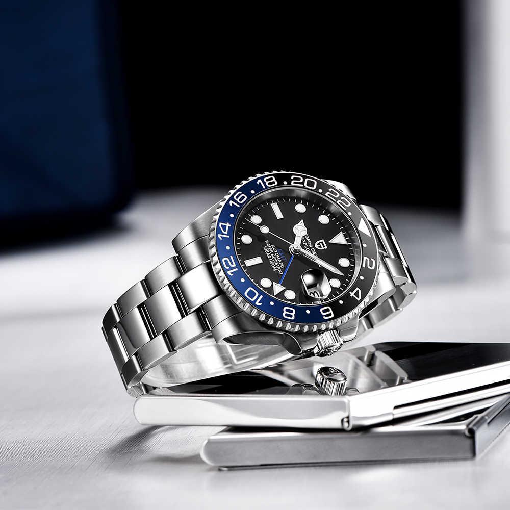 PAGANI DESIGN 2020 Mewah Pria Mekanis Jam Tangan Stainless Steel GMT Watch Top Brand Sapphire Glass Jam Tangan Reloj Hombre