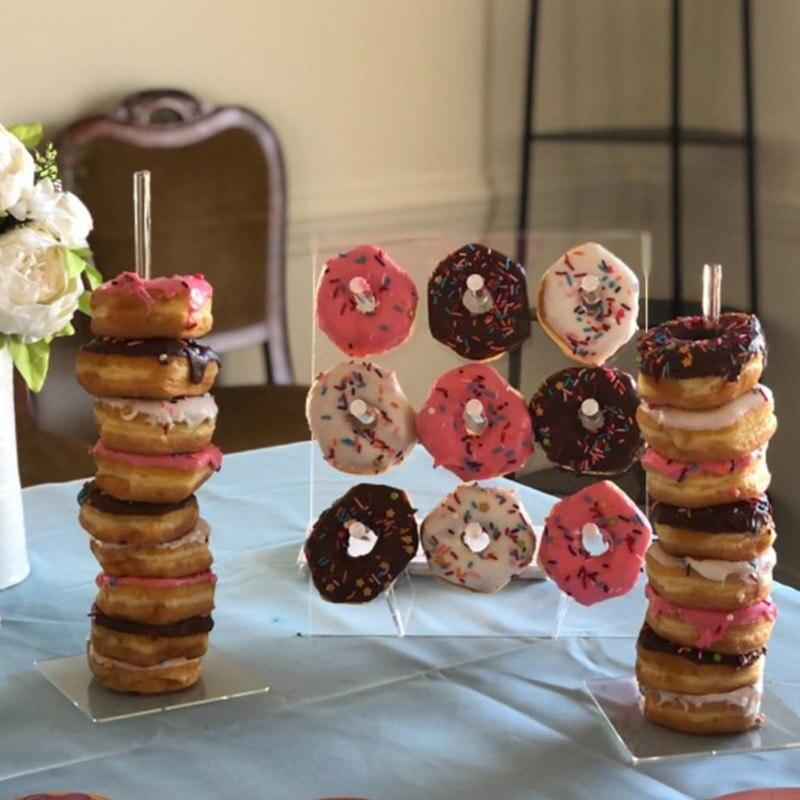 Пончики стены/стенд Свадьбы & События лечения детей день рождения украшения пончик детский душ прозрачный стол Декор Аксессуары