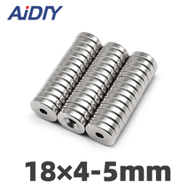 AI DIY 5/10/50Pcs 18 x 4mm Hole 5mm N35 Ring Countersunk Magnets Super Strong Neodymium Disc Magnet 18×4-5mm