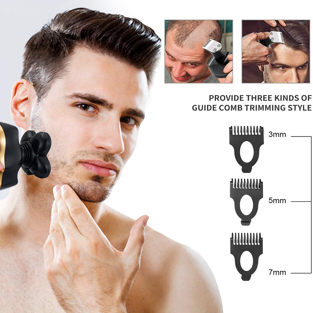 elétrica rotativo navalha para homens aliciamento kit barba corpo aparador