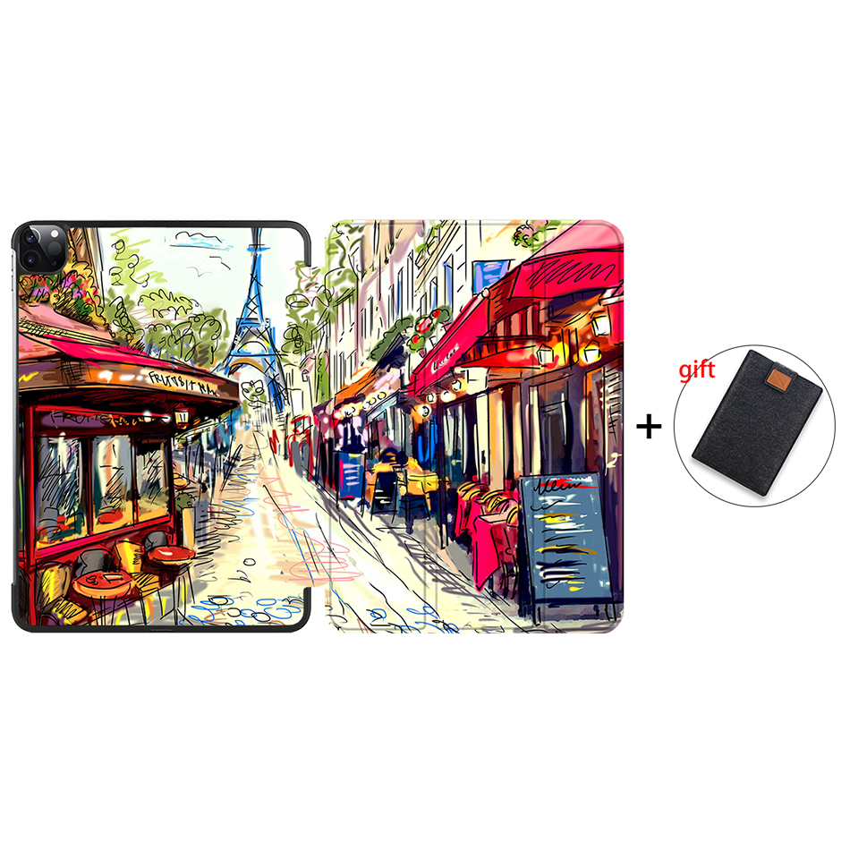 IP02 Other MTT Case For iPad Pro 12 9 4th 3rd Generation 2020 2018 PU Leather Magnetic Flip