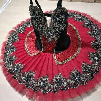 Children Harmony red velvet tutu,Ballet Stage Costumes Bodice & Tulle Skirt,Ballet Tutus Dress embroidered bodice frilled dress